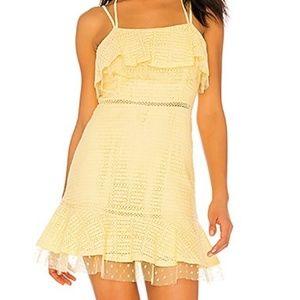 NWOT J.O.A. Yellow Textured Mini Sheath Dress